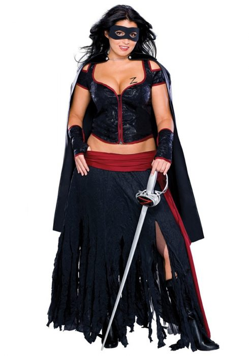 Plus Size Sexy Zorro Costume