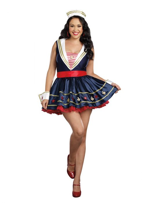 Plus Size Shore Thing Sailor Costume