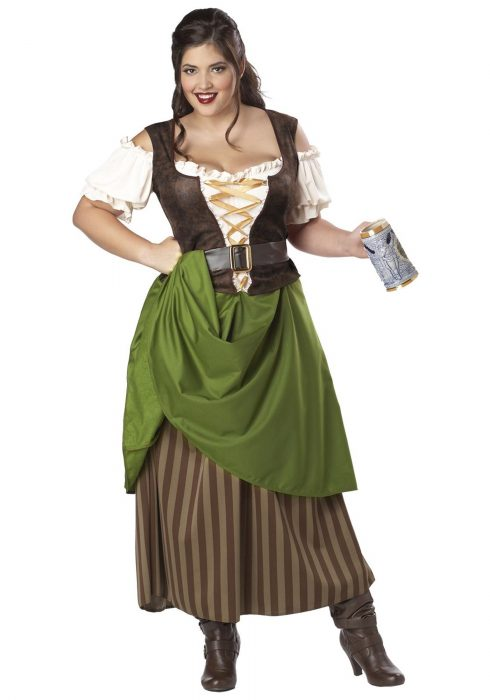 Plus Size Tavern Maiden Costume