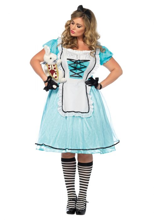 Plus Size Tea Time Alice Costume