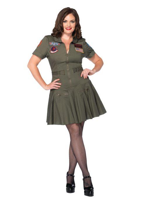 Plus Size Top Gun Flight Dress