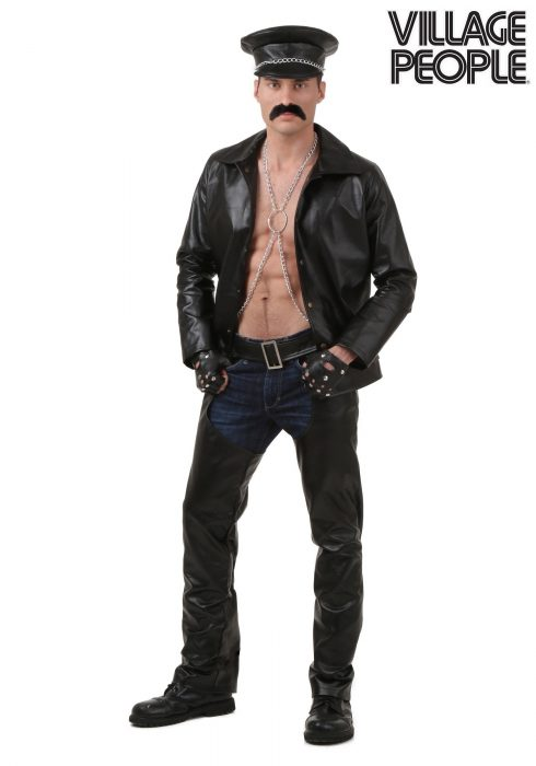 Plus Size Village People Biker Costume