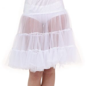 Plus Size White Knee Length Crinoline
