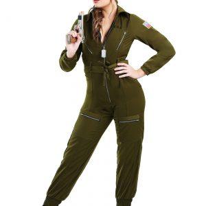 Plus Size Women's Army Flightsuit Costume