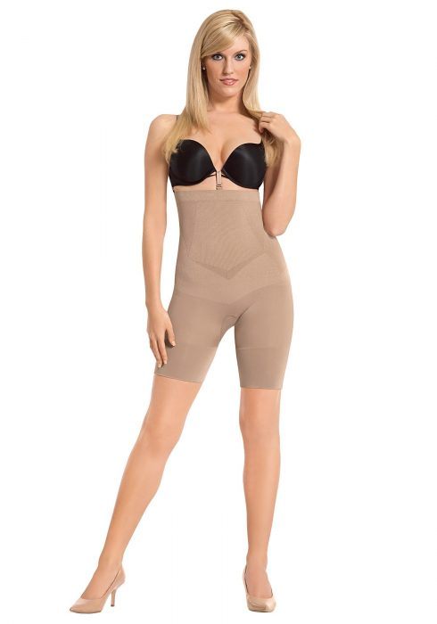Plus Size Women's Nude High Waist Boxer Shaper