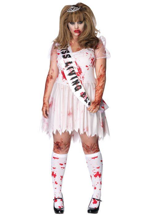 Plus Size Zombie Prom Queen Costume