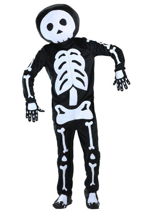 Plush Skeleton Mens Costume
