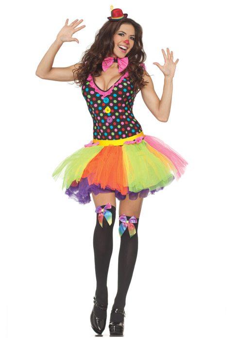 Polka Dot Tutu Clown Dress