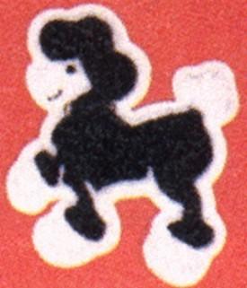 Poodle Chenille Patch