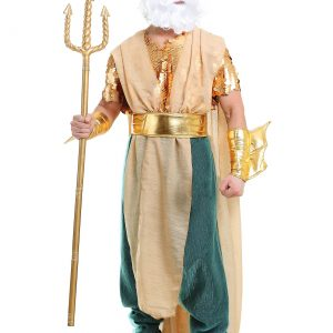 Poseidon Plus Size Men's Costume