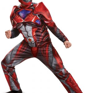 Power Rangers Movie Red Ranger Deluxe Mens Costume