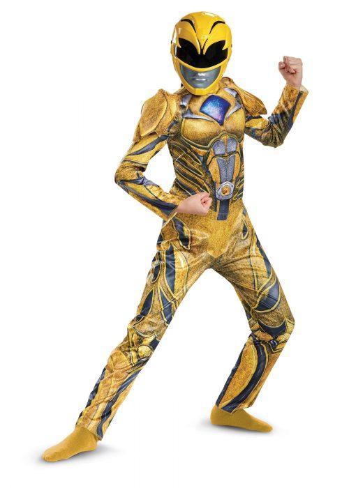 Power Rangers Movie Yellow Ranger Girls Deluxe Costume