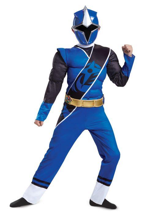 Power Rangers Ninja Steel Blue Ranger Boys Muscle Costume