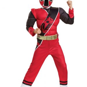 Power Rangers Ninja Steel Red Ranger Boys Muscle Costume