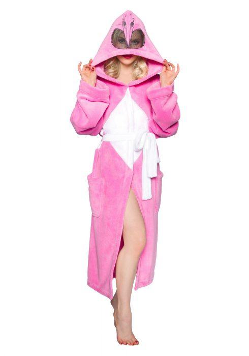 Power Rangers Pink Ranger Hooded Robe w/ Mesh Mask