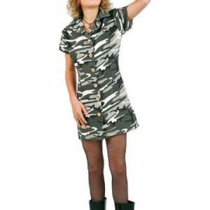 Preteen Camouflage Soldier Girl Costume