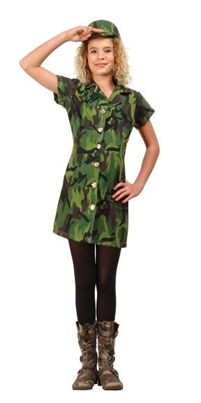 Preteen Jungle Soldier Girl Costume