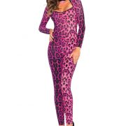 Pretty Pink Leopard Catsuit