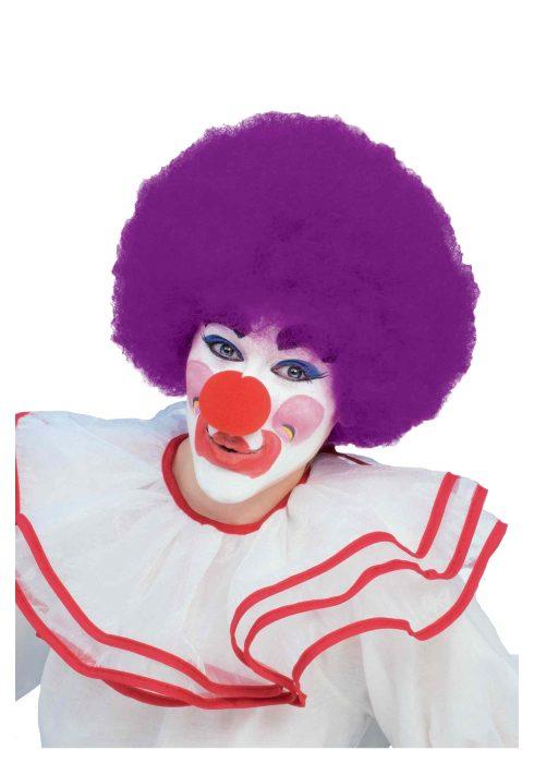 Purple Afro Clown Wig