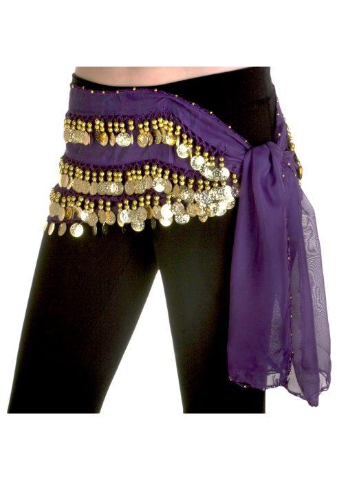 Purple Belly Dance Hip Scarf