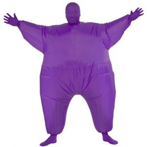 Purple Inflatable Skin Suit Costume