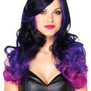 Purple and Black Two-Tone Wig