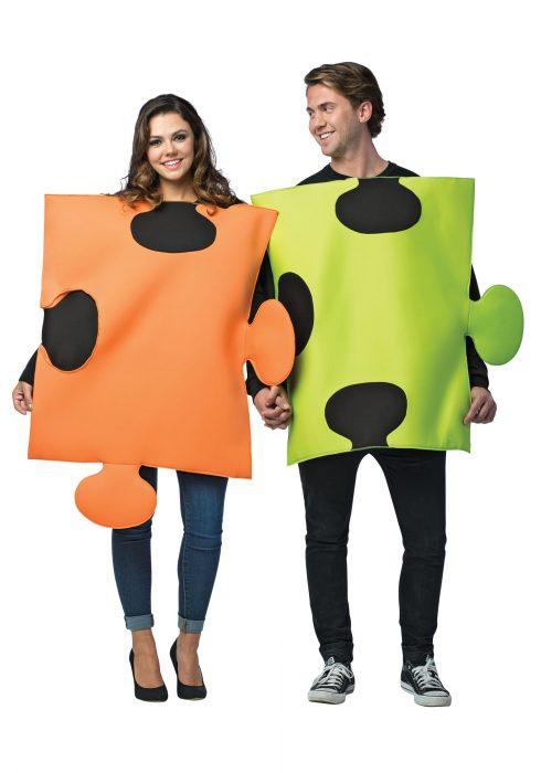 Puzzle Pieces Couple Costume