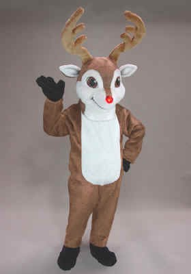 Randolph Reindeer Mascot Costume