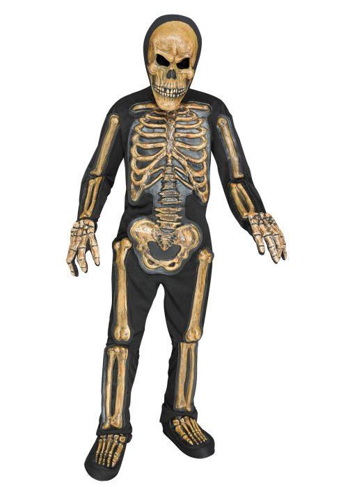 Realistic Skele-bones Boys Costume