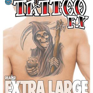 Reaper XL Temporary Tattoo