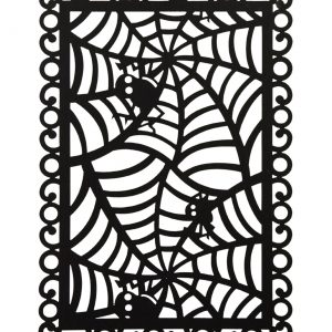 Rectangular Black Spider Web Placemat