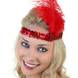 Red Flapper Headband