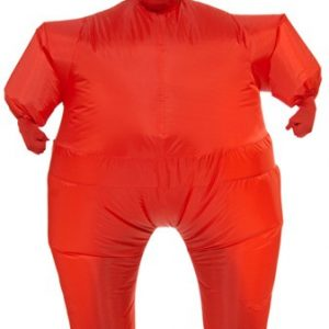 Red Inflatable Skin Suit Costume