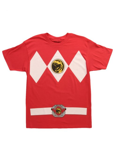 Red Power Ranger Costume T-Shirt