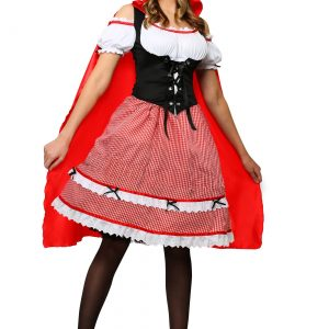 Red Riding Hood Knee Length Dress Costume