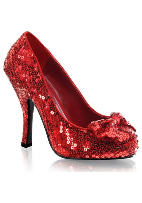 Red Sequin High Heels
