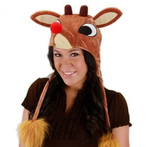 Rudolph Light Up Hoodie Hat