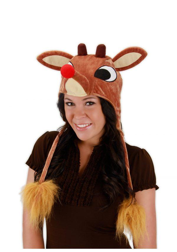 Rudolph Light Up Hoodie Hat