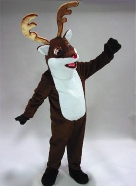 Rudy Reindeer Mascot Costume