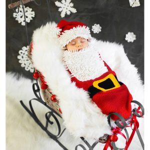 Santa Baby Newborn Bunting