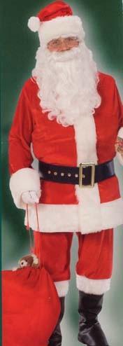 Santa Claus Costume Deluxe Velour Suit