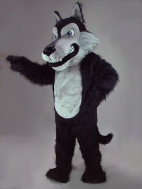 Scary Wolf Mascot Costume (Black)