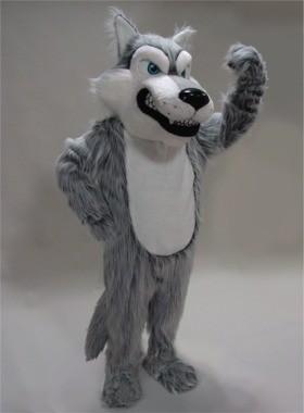 Scary Wolf Mascot Costume (Grey)