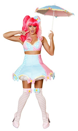 Sexy Clown Costume - Stripes