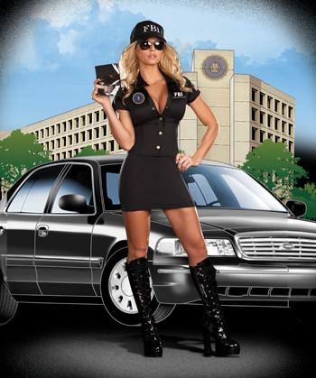 Sexy FBI Agent MIA Babe Costume