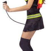 Sexy Firefighter Costume and Beverage Dispenser