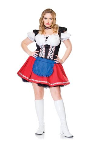 Sexy Plus Size Frisky Fraulein Costume
