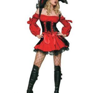 Sexy Plus Size Vixen Pirate Costume