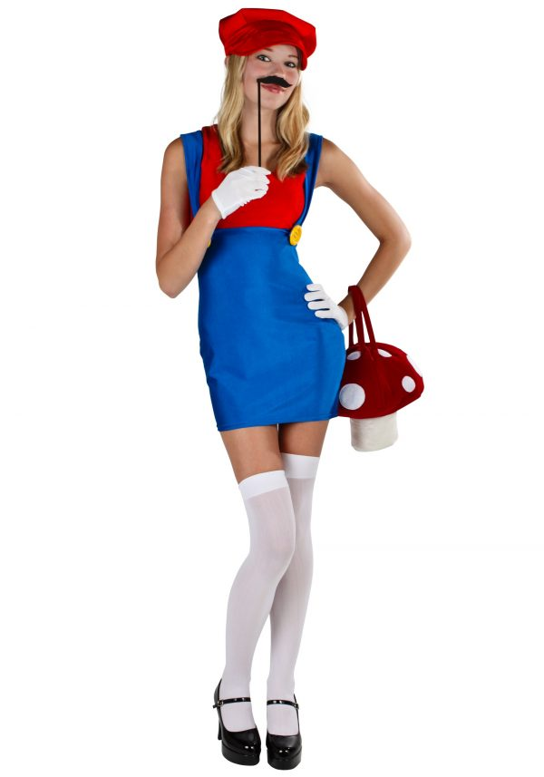 Sexy Red Plumber Costume