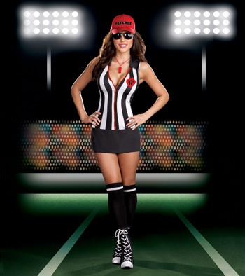 Sexy Shelia B Cheatin' Referee Costume